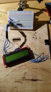 LCD attached to breadboard via female headers